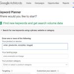 google, keywords, keyword planner,