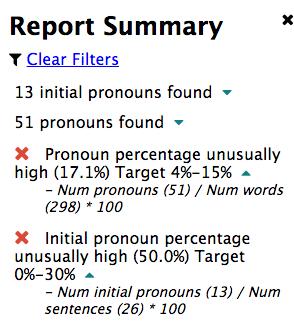 Pronoun Report