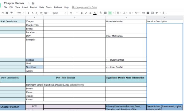 Chapter Planner